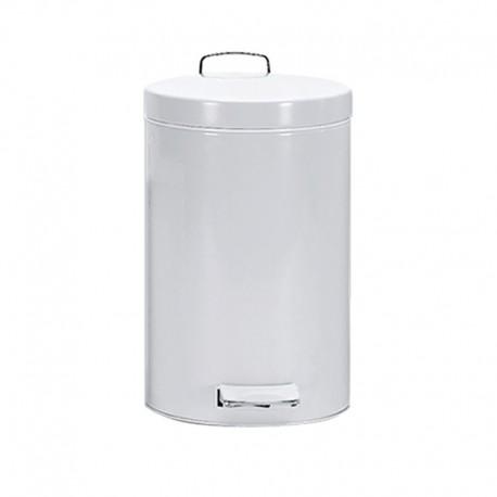 Cubo Pedal 12 L Epoxi Blanco