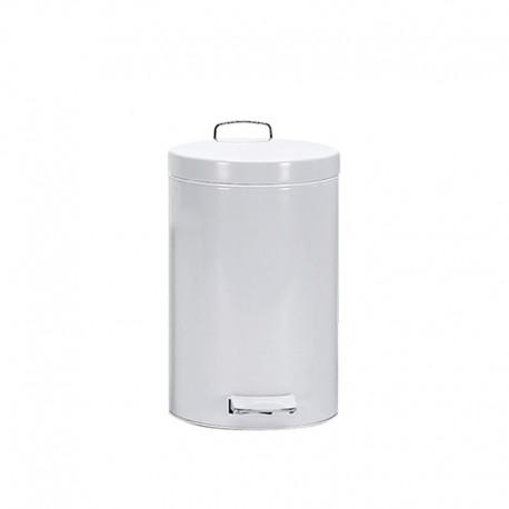 Cubo Pedal 5 L Epoxi Blanco