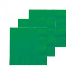 Servilletas Verdes de Papel 40x40 - 2 Hojas / Caja 2400 unidades