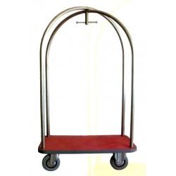 Portamaleta Lujo con Cúpula Acero Inox (Grande)