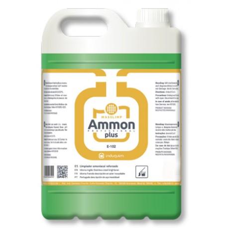Limpiador Amoniacal desinfectante de calidad industrial profesional olor a Pino 5 litros