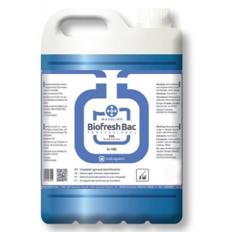 Desinfectante Viricida Limpiador Multiusos Homologado BIOFRESH BAC H-106HA  5 Litros
