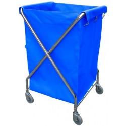Carro de Ropa Lavandería Plegable con Bolsa Vinilo Azul
