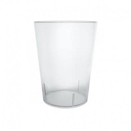 25 vasos de  sidra Plastico 500 cc Desechables