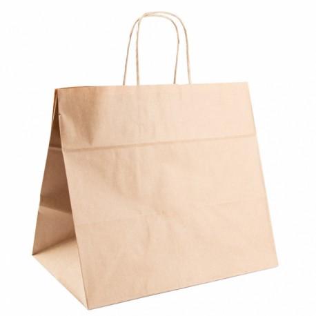 Bolsas de Asas de Papel Kraft  32+21x28.5 cm
