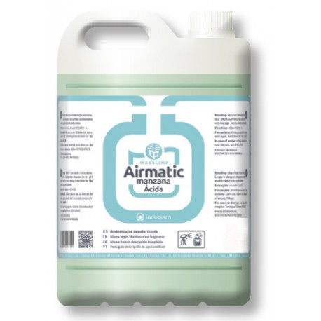 Ambientador MANZANA ÁCIDA (4X5 litros) Desodorizante Uso Profesional