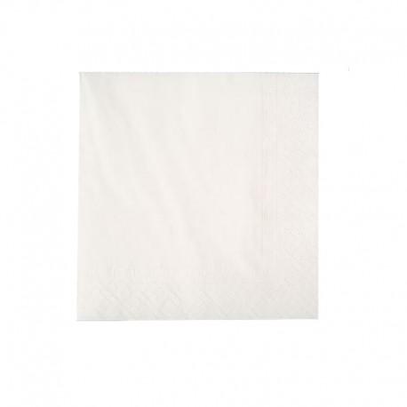 Servilletas  Blancas 30 x 30  (2 Hojas)
