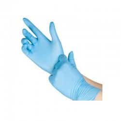 100 Guantes de Nitrilo sin Polvo 5.5 gramos Azul Ambidiestros