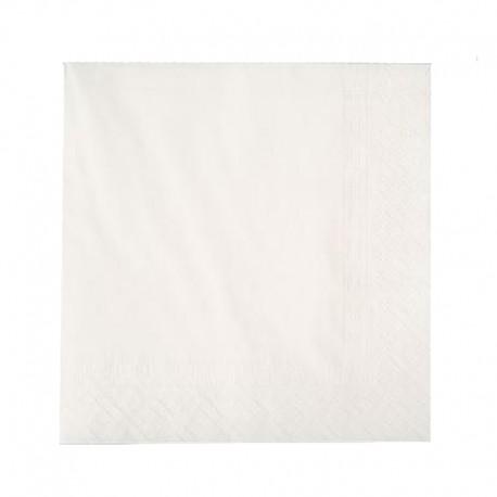 Servilletas  Blancas 40 x 40  (3 Hojas)