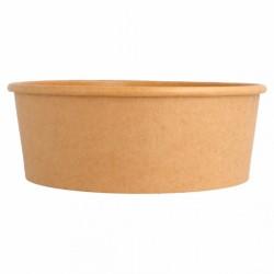 Envase Ensaladera de Cartón 1300 ml Kraft