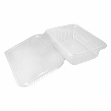 Envase Ecológico compostable con Tapa Bisagra 750 ml Transparente