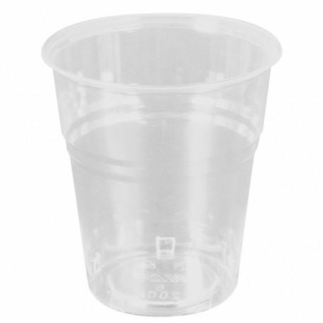 Vasos compostables 200 ml Transparentes (Caja 1500 unds.)