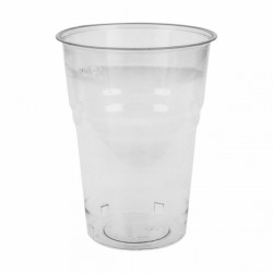 Vasos compostables 250 ml Transparentes (Caja 1500 unds.)