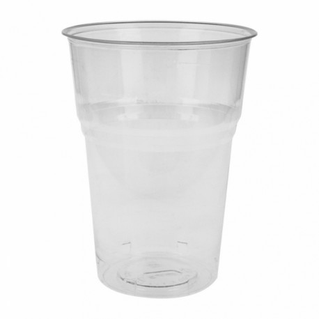 Vasos compostables 400 ml Transparentes (Caja 1000 unds.)