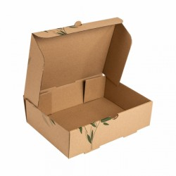 Cajas de Comida para llevar 26x18x7 cm Marrón Cartón 100 unds.