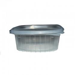 Envases 750 cc Plástico Transparente PET con tapa 50 unds