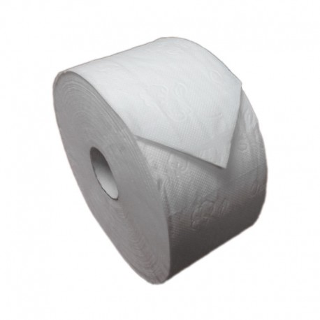 18 Rollos Papel Higiénico Extra Industrial ECOPASTA Diámetro 45 mm