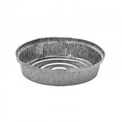 100 Envases de Pollo con Tapa incluida  - Aluminio B-1420