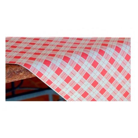 500 Manteles Plano Cuadro Rojo 100x100 cm