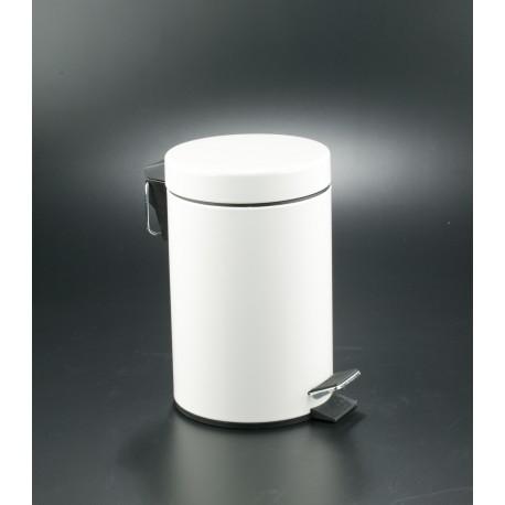 Papelera con Pedal 5 Litros Blanco