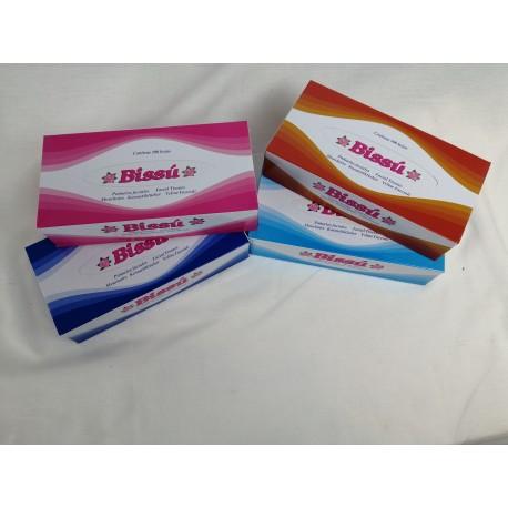 Pañuelos Faciales Tissue de Papel BISSÚ 100 Hojas