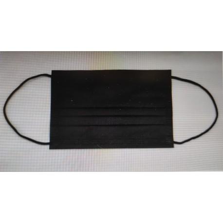 50 Mascarillas Higiénicas Negras 3 capas BARATAS - Comprar ONLINE
