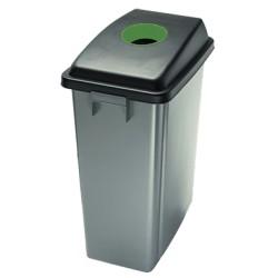 Papelera de Reciclaje de 60 Litros Base con Ruedas