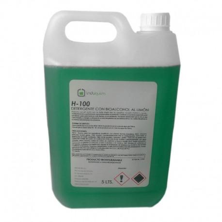 Detergente Bioalcohol Limón EXTRA Limpiador Industrial 5 Litros
