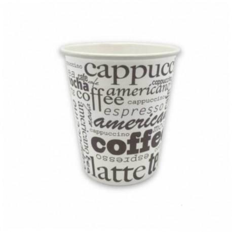 50 Vasos Bebida Caliente Cartón Decorado Coffee 210 cc 7 oz