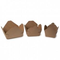25 Cajas de Comida para llevar 780 cml Cartón Natural