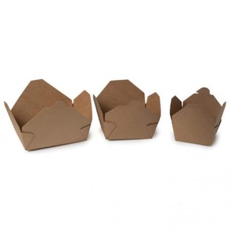 25 Cajas de Comida para llevar 1380 ml Cartón Natural