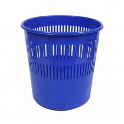 Papelera Plástico Oficina Rejilla Azul