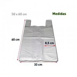 Bolsas Camiseta 50x60 Blancas con Asas 200 unds