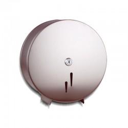 Portarrollos de Papel Higiénico Industrial Acero Inox Brillo Dispensador especial de 45 mm baños Públicos