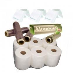 Lote Celulosa-Film-Aluminio-Envío gratis.